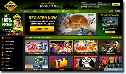 G'Day Casino - Real Money AUD Site redesigned