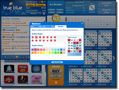 True Blue Bingo - Player Customisation