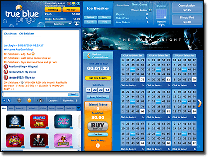 True Blue Bingo - real money online housie