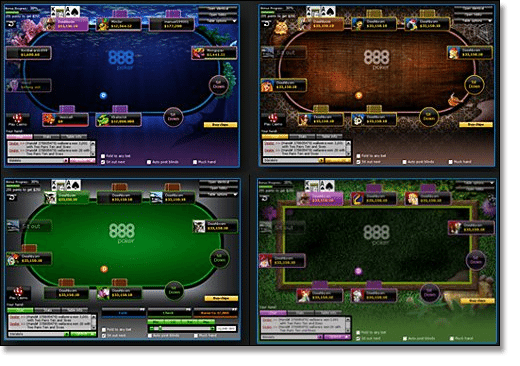 888 Poker tables for real money play