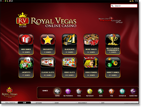 Royal Vegas Casino - New Microgaming browser interface