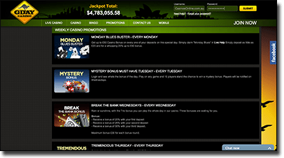 G'Day Casino daily real money bonuses and promotions