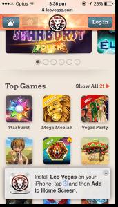 Leo Vegas iPhone Casino