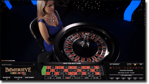 Immersive roulette game