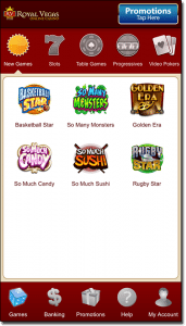 Royal Vegas Casino - iPhone and Android native app