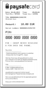 What is a pay safe card