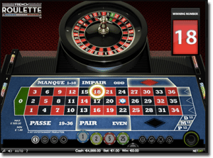 Play online French roulette