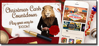Leo Vegas Christmas Cash Countdown promotion 2015