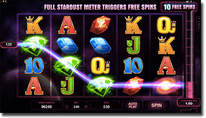 Stardust slots by Net Entertainment