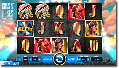 Play new Guns' N Roses pokies at Leo Vegas Casino