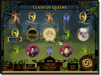 Clash of Queens pokies at Guts Casino