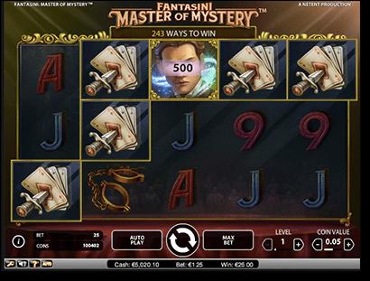 Fantasini Master of Mystery pokies by NetEnt