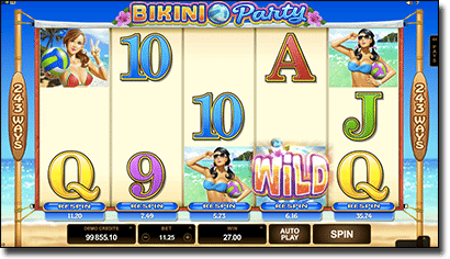 Bikini Party pokies by Microgaming