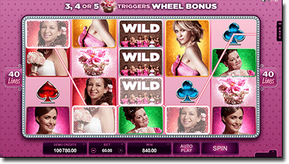 Bridesmaids online pokies by Microgaming