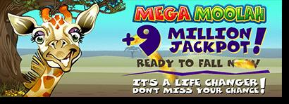 Mega Moolah progressive jackpot online pokies jackpot over 9 million