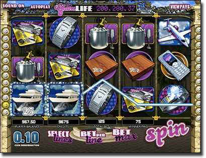 The Glam Life progressive jackpot pokies