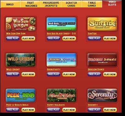 32Red Casino slots lobby