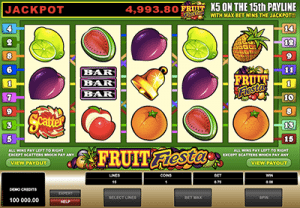 Fruit Fiesta 5-reel pokies by Microgaming