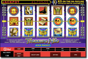 Treasure Nile online pokies by Microgaming