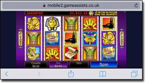 Play Treasure Nile pokies on iPhone and Android