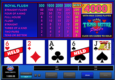 Play Video poker for real money