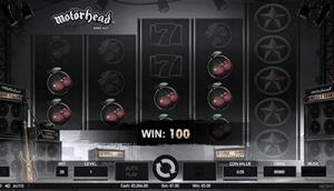 NetEnt's Motörhead base game win