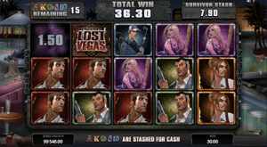 free spins on lost vegas