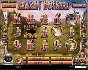 blazin buffalo pokies by rival