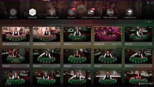 live dealer lobby evolution gaming