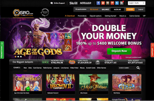 instant play or downloadable client at casino.com