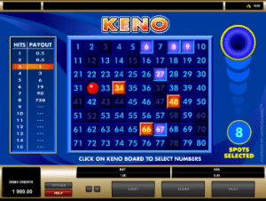 microgaming keno sequential numbers
