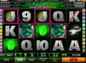 Format of the incredible hulk pokie