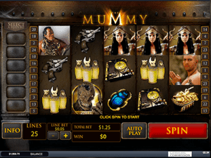 the mummy by playtech at slots million