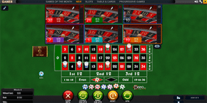 Bets on multi-wheel roulette by Playtech
