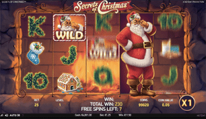 Free spins on Secrets of Christmas NetEnt