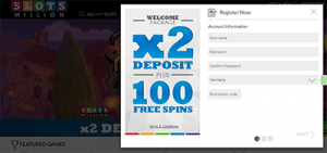 Slots Million accepts Germany players