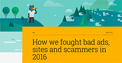 Blocked ads on Google 2016