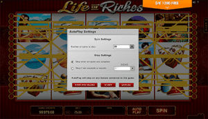 Format of Microgaming's Life of Riches