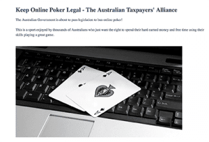 AOPA fights for online poker