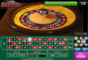 European Roulette by 1x2 Gaming casino software