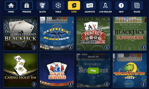 William Hill card games
