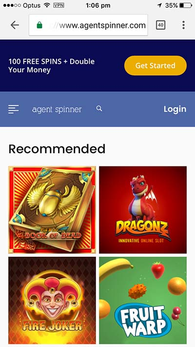Agent Spinner mobile Android and iOS