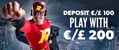 Rizk Casino extra spins and match deposit bonus