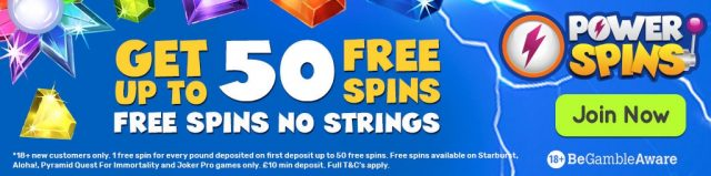 Power Spins casino promo