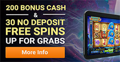 Free spins and bonus cash at Emu Casino