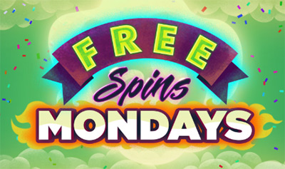 Up to 100 free spins every Monday