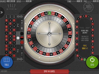 Felt Gaming double ball roulette for Aussies