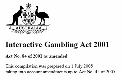 Interactive Gambling Act 2001