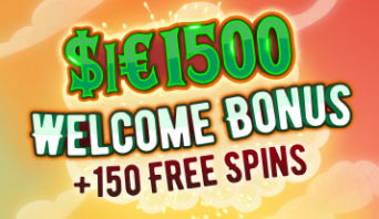 Up to $1500 + 150 free spins